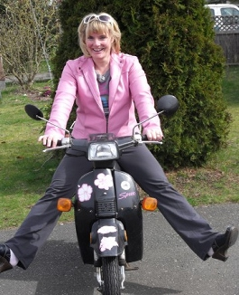 Patti On A Scooter